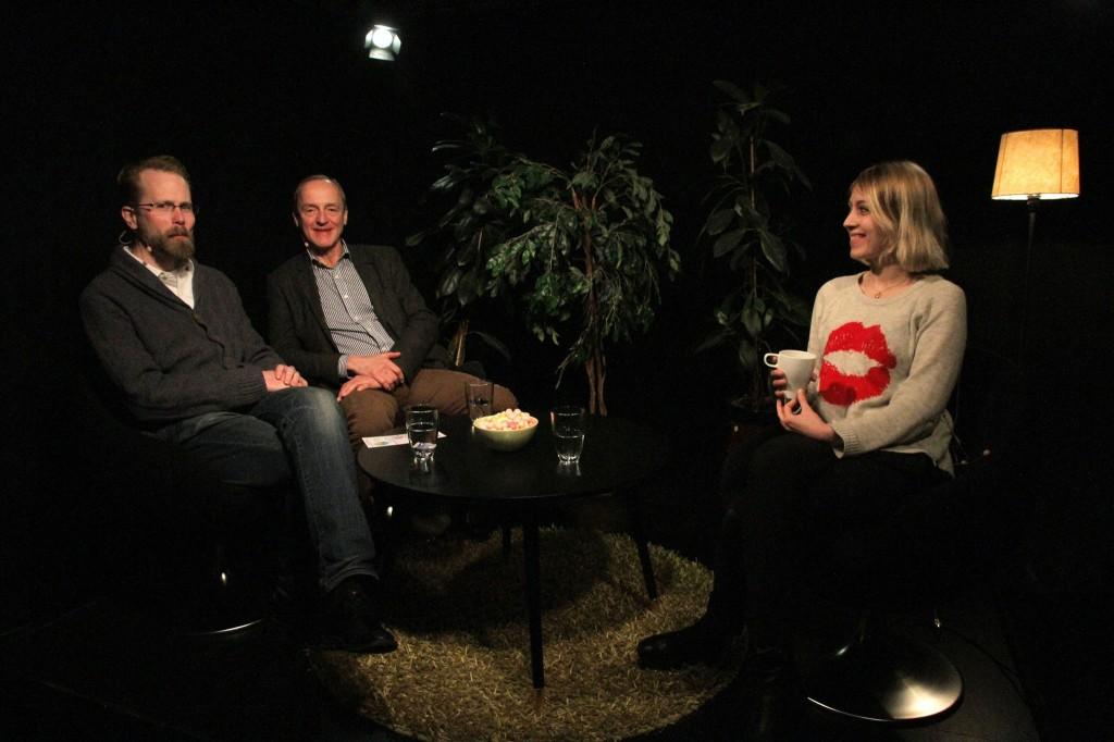 Bild från Adam och Curts besök hos Glimt Television 10 feb